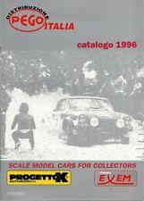 PROGETTOK CATALOGUE 1996 VOITURE 1/43 - CATALOGO MODEL CARS PEGO EXEM