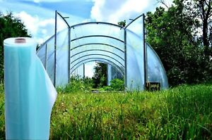 Pollytunnel sheeting UV-4 Greenhouse Clear Plastic Film Foil Cover  Clear Green