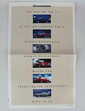 Volkswag VW 1992 Fahrvergnugen Fox Passat Cabriolet Corrado Brochure/Literature