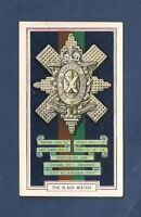 The BLACK WATCH Royal Highlanders  Regimental Badge original card