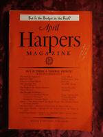HARPER's April 1938 EUGENE WRIGHT CLAYTON HAMILTON LOUIS ADAMIC GEORGE SHEPHERD