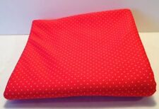"""Vintage Retro Mod Polyester Fabric Red With White Polka Dots 60"""" X 64"""""""