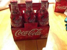 Christmas 2003 Holiday Santa Coca-Cola 6-Pack Wrapped 8 oz Unopened With Carrier