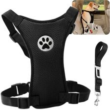 More details for air mesh puppy pet dog car harness seat belt clip lead safety for travel dogs
