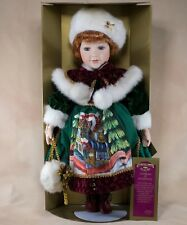 """Collectible Memories Francesica Porcelain Doll 17"""" Red Hair With Box & Stand"""