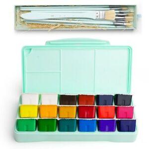 Miya 18 Farben Gouache Malset 30ml Tragbar Schutzhülle Mit Palette Gouache