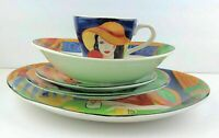 Sango Cafe Paris Dinnerware Select: Dinner Plates, Salad Bowls, Cups, Saucers