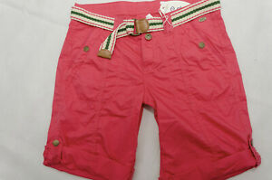 Esprit edc NEU Damen Play Bermuda Turn Up Shorts kurze Hose Gr.38 M W29 in Pink