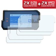 4x KTM DUKE 390 2017+ Dashboard Screen Protector: 2 x Clear & 2 x Anti-Glare