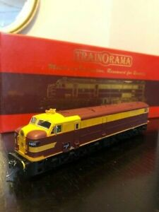Trainorama 44 Class in NSWGR Indian red and yellow livery