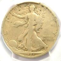 1921-D Walking Liberty Half Dollar 50C - PCGS VG Details - Rare Key Date Coin