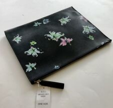 Retail $48 Banana Republic EXPANDABLE POUCH Clutch Bag #480422 DARK GRAY FLORAL