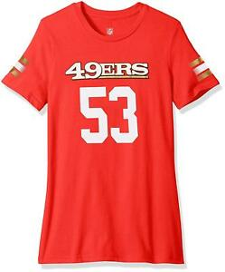 San Francisco 49ers NaVorro Bowman Girls Main Stripes Player Short Sleeve Shirt
