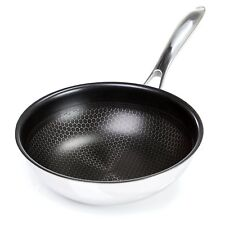 """Frieling Black Cube Hybrid Stainless Steel / Non-Stick 9.5"""" Chef's Pan"""