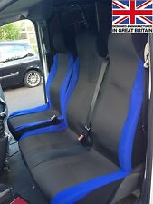 FORD TRANSIT LWB HIGH ROOF (06-ON) DELUXE RACING BLUE VAN SEAT COVERS 2+1