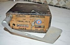 Vintage Rockwell Mfg Co Taxi Cab Meter Fare Box Ohmer Corp Pittsburgh, Pa