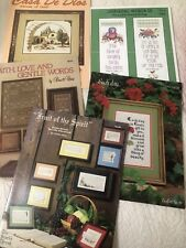 Religious Spiritual Cross Stitch Leaflets Booklets Lot of 5 Needlework Crafts