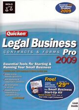 Quicken LEGAL BUSINESS PRO 2009 (FREE BOOK) Contracts and Forms