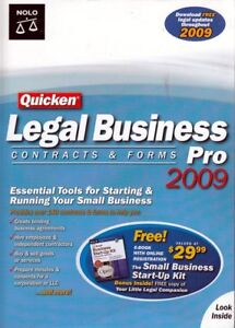 Quicken LEGAL BUSINESS PRO 2009 Contracts & Forms - Tools for Small Business