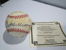 Ted Williams HOF BOSTON RED SOX Signed Auto MLB OAL BROWN BASEBALL W/ COA
