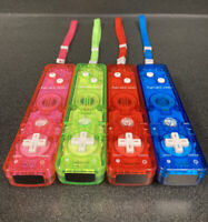 Lot of 4 Nintendo Wii Rock Candy Wii Remotes-Wii Motes w Straps Bundle-Free Ship
