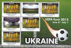 "SIERRA LEONE - 2012 MNH ""UEFA Euro 2012 - GROUP C & D"" Eight Souvenir Sheets !!"