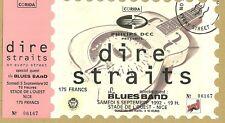 RARE / TICKET CONCERT - DIRE STRAITS MARK KNOPFLER LIVE A NICE ( FRANCE ) 1992