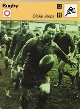 RUGBY carte joueur fiche photo DICKIE JEEPS ( ANGLETERRE )