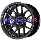XXR 530 Wheels 16x8.25 +0 Chromium Black Concave Rims Mesh Hellaflush 4x100 E30