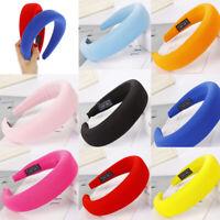 Women's Headband Padded Hairband Wide Hair Hoop Accessories Milk Silk Headpiece