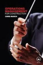 Operations Management for Construction (Paperback or Softback)