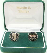1994 Ireland Gemelos Antiguo Irlandés 5p Monedas En Negro Y Plateado