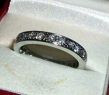1.25Ctw G-H VS2-SI1 Round Genuine Diamond 14k White Gold Eternity Ring 3.5mm Sz9
