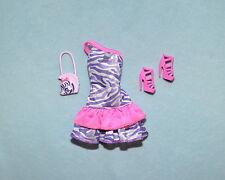 WILD CHILD! Pink & Purple Wild Print Sleeveless Short Dress BARBIE w/ Heels