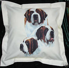 Hand Crafted St Bernards  dogs cushion cover