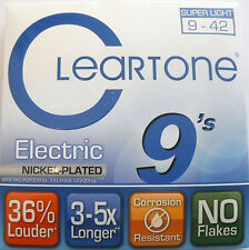 NEW CLEARTONE 9409 SUPER LIGHT GUITAR STRINGS AND FREE JOE SATRIANI PICK