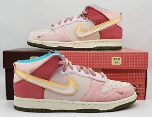 Nike Dunk Mid Social Status Free Lunch Strawberry Milk Size 8M / 9.5W DJ1173-600