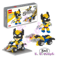 Dr Star super hero wolverine avengers x-men claws marvel diamond mini blocks