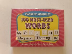 Pack Of Magnetic Wordplay Word & Letter Tiles Educational (not complete)