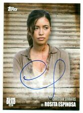CHRISTIAN SERRATOS as ROSITA ESPINOSA Autograph 2017 TOPPS WALKING DEAD SEASON 6
