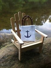 "Dollhouse Miniature Nautical Anchor Tote Bag Beach Lake Camping 1"" Scale 1:12 #2"