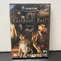 Resident Evil Zero (0) GameCube CIB  Case Manual Disc 1 + 2 Black Label - Tesred