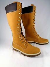 "Timberland Womens Premium Nubuck Leather Waterproof 14"" Wheat Boots US 9 3752R"