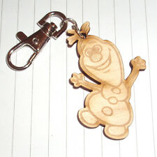 90s retro Classic Christmas Frozen Olaf Snowman wooden keyring