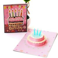 3D Pop Up Greeting Cards Birthday Mothers Day Holiday Postcards Cxz