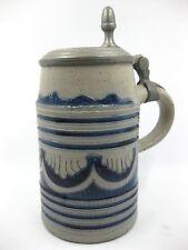 Westerwald Barock 1832 Walzenkrug Blau Grau Krug Bierkrug