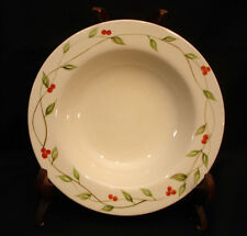 Green Leave / Vines / Red Berries By Home RIM SOUP BOWL 8 3/4""