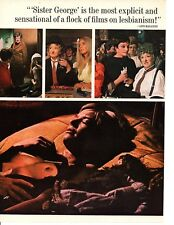 """1969 """"THE KILLING OF SISTER GEORGE"""" MOVIE ~ ORIGINAL 4-PAGE AD"""
