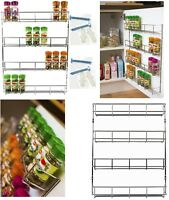 4 Tier Spice Herb Rack Wall Mountable Kitchen Cupboard Storage Back Of The Door