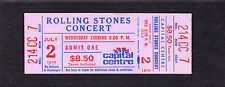 1975 Rolling Stones Eagles Rufus Chaka Khan Unused concert ticket Capital Centre